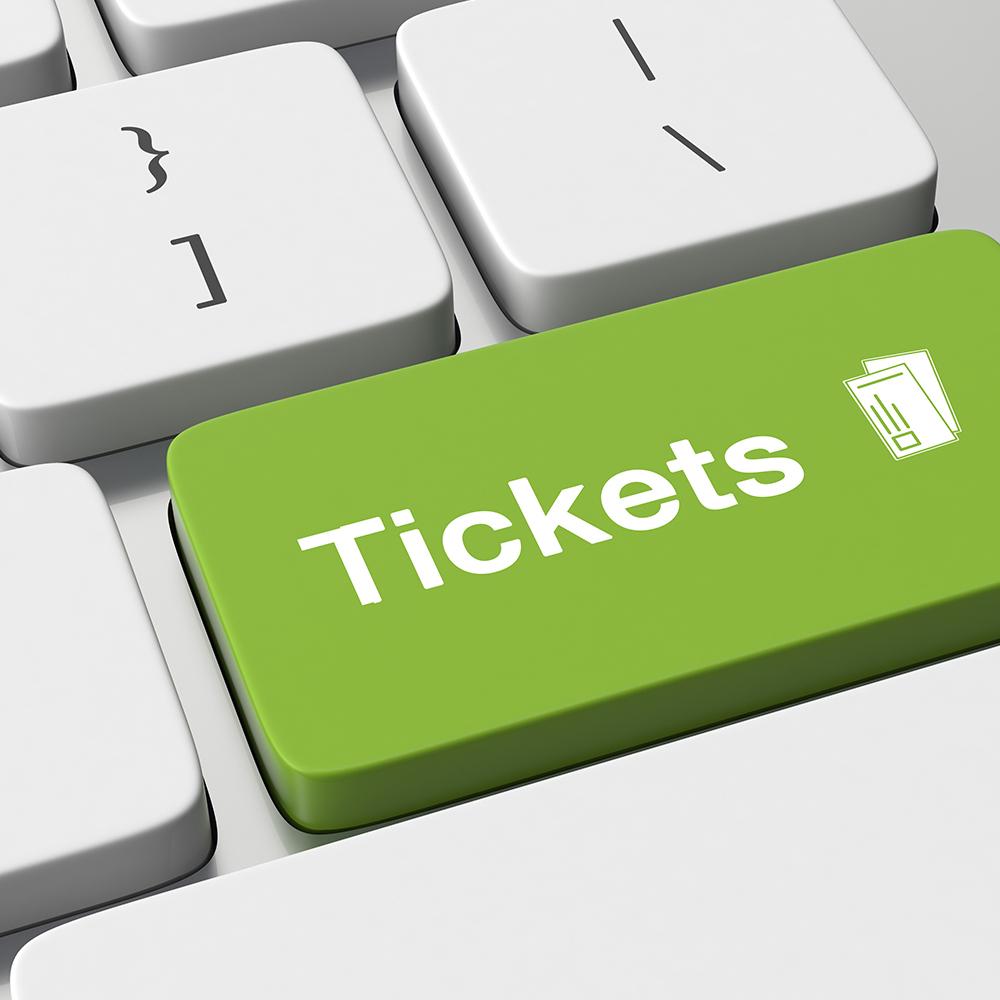 Online Ticket per E-Mail anfordern